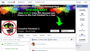 Crossfire Paintball Facebook